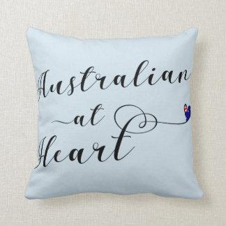 Australien au coussin de jet de coeur, Aus