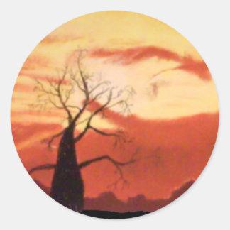Australische Oranje Zonsondergang om Stickers