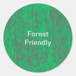 Autocollant amical de forêt