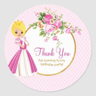 Autocollant assez blond de Merci de princesse