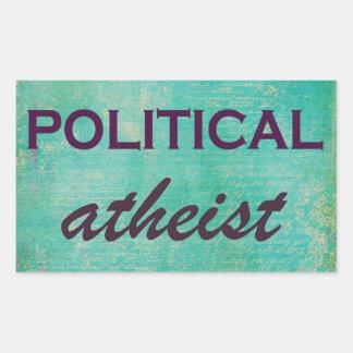 Autocollant athée politique d'amusement