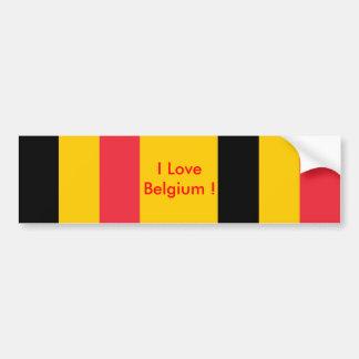 Autocollant avec le drapeau de la Belgique Autocollant De Voiture