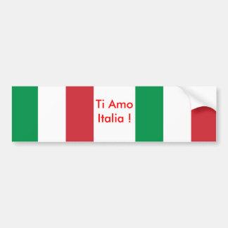 Autocollant avec le drapeau de l'Italie Autocollant De Voiture