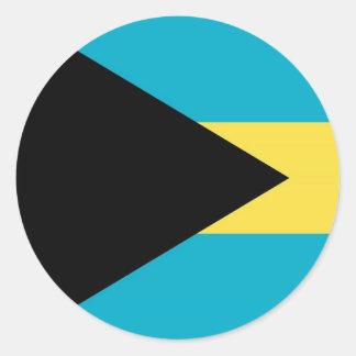 Autocollant avec le drapeau des Bahamas