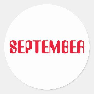 Autocollant blanc rouge de septembre Amelia par