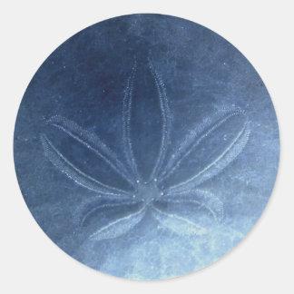 Autocollant bleu du dollar de sable
