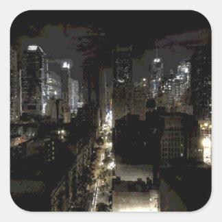 Autocollant carré de New York City
