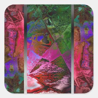 """Autocollant chic d'art abstrait de """"triptyque"""""""
