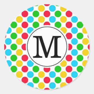 Autocollant coloré de golf décoré d'un monogramme