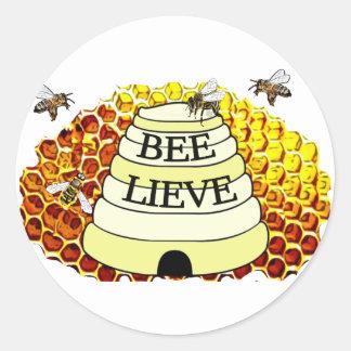 Autocollant d'abeilles de miel d'Abeille-Lieve