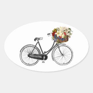 Autocollant d'album à fleur de bicyclette de vélo