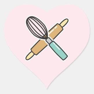Autocollant d'amant de cuisson