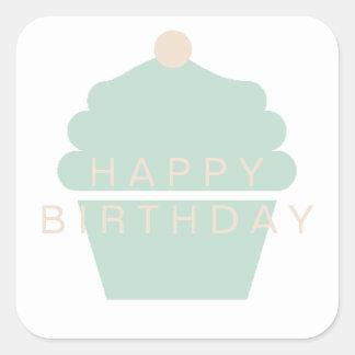 Autocollant d'anniversaire de petit gâteau