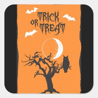 Autocollant d'arbre de Halloween