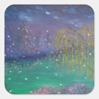 Autocollant d'art de paysage de luciole