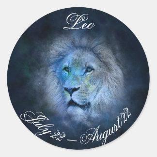 Autocollant d'astrologie de symbole de lion de