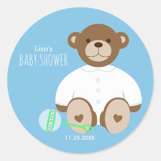 Autocollant de baby shower d'ours de nounours,