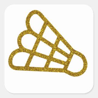 Autocollant de badminton d'or