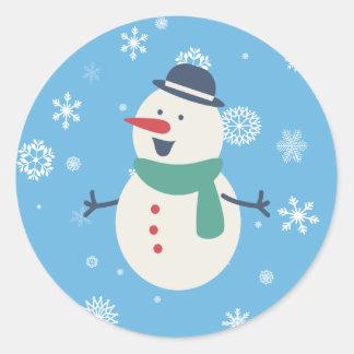 Autocollant de bonhomme de neige