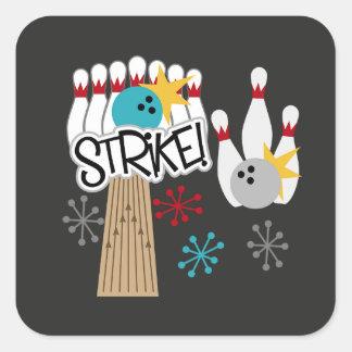 Autocollant de bowling de grève d'amusement comme
