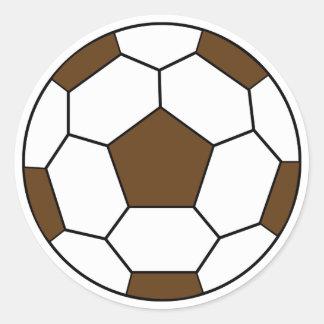 Autocollant de Brown de ballon de football