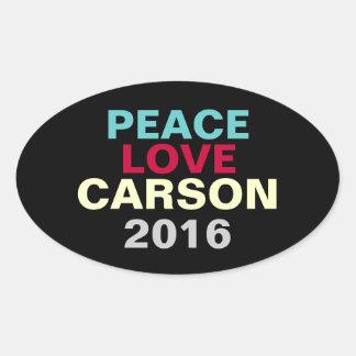 Autocollant de campagne d'ovale de Carson 2016