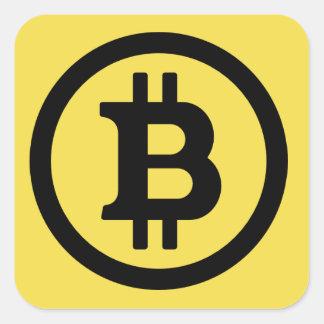 Autocollant de carré de logo de Bitcoin