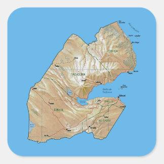 Autocollant de carte de Djibouti