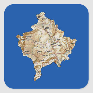 Autocollant de carte de Kosovo