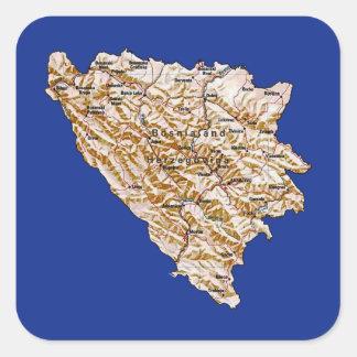 Autocollant de carte de la Bosnie-Herzégovine