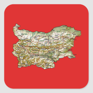 Autocollant de carte de la Bulgarie