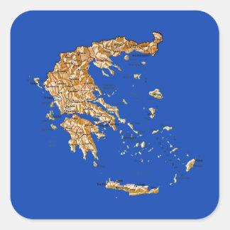 Autocollant de carte de la Grèce