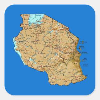 Autocollant de carte de la Tanzanie