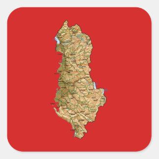 Autocollant de carte de l'Albanie