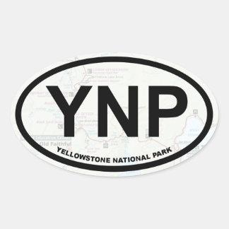 Autocollant de carte de Yellowstone (texte noir)