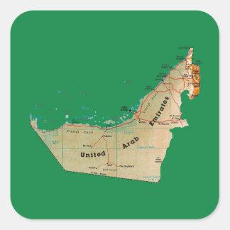 Autocollant de carte des EAU