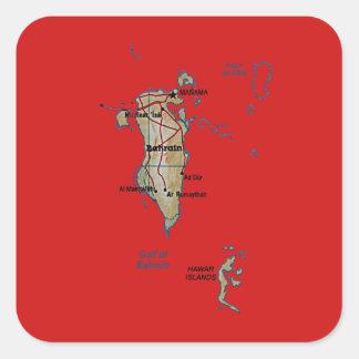 Autocollant de carte du Bahrain