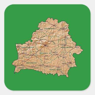 Autocollant de carte du Belarus