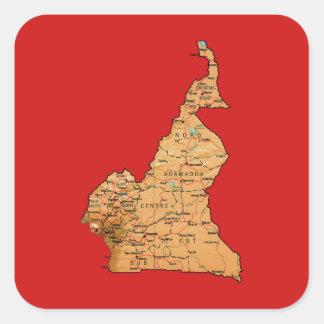 Autocollant de carte du Cameroun