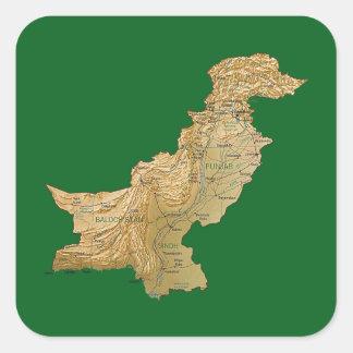 Autocollant de carte du Pakistan