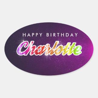 Autocollant de Charlotte de joyeux anniversaire