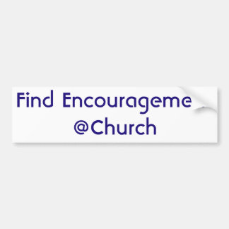 Autocollant de @Church d'encouragement de
