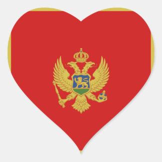 Autocollant de coeur de drapeau de Monténégro