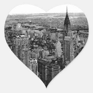 Autocollant de coeur de New York City