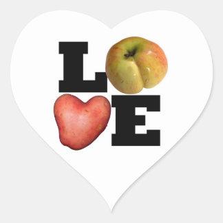 Autocollant de coeur de pomme de terre de coeur de