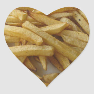 Autocollant de coeur de pommes frites