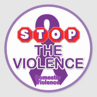 Autocollant de conscience de violence familiale
