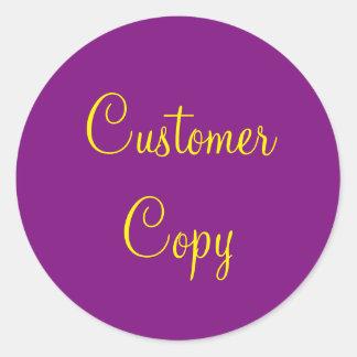 Autocollant de copie de client