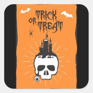Autocollant de crâne de Halloween