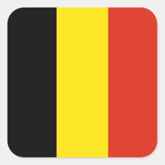 Autocollant de drapeau de la Belgique